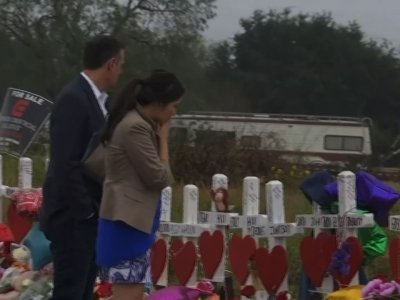 Texans Visit Memorial for Church Victims
