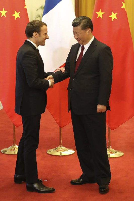 Emmanuel Macron, Xi Jinping