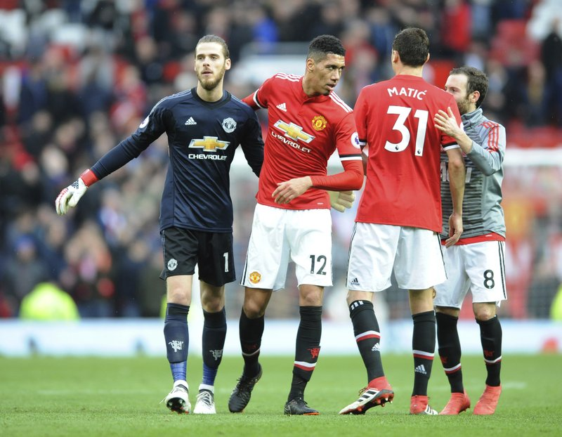 David De Gea, Chris Smalling, Nemanja Matic, Juan Mata