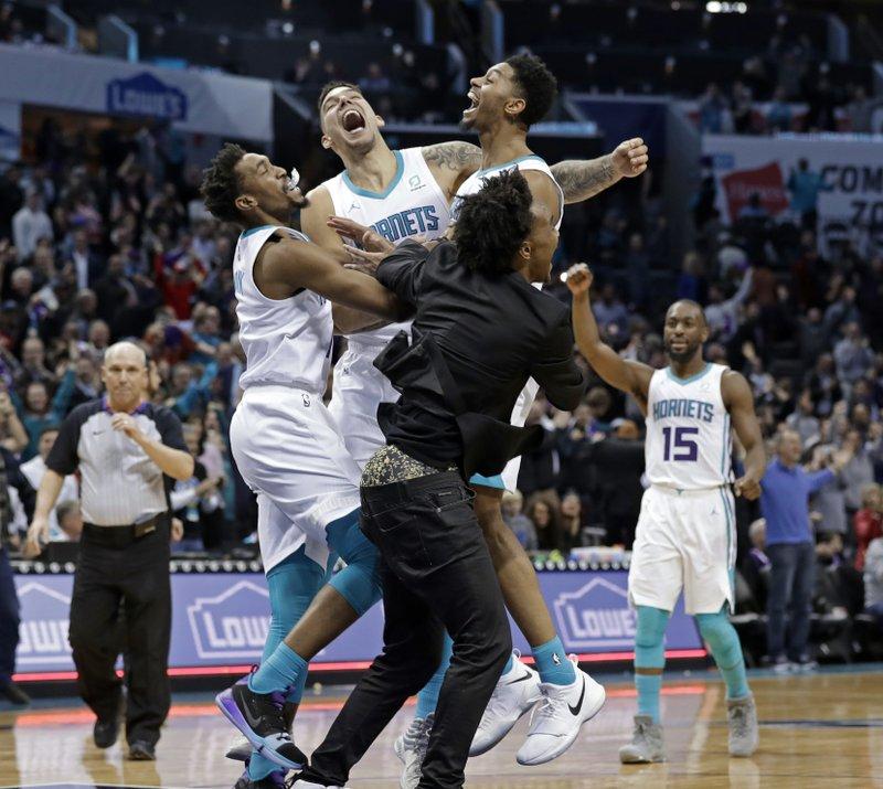 32976f7e0f8 Lamb s jumper helps Hornets beat Pistons 108-107 in wild win