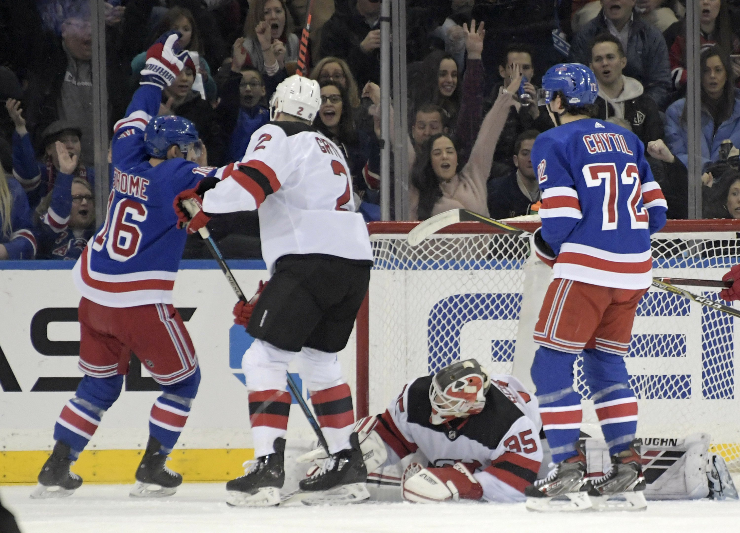 low priced ff821 96e0a Rangers too much for rival Devils 5-2
