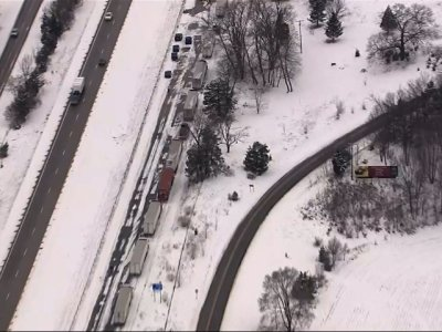 Massive Pileup on Icy Michigan Interstate