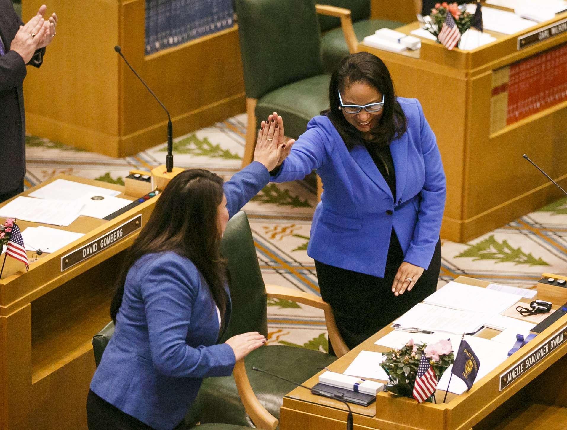Black Oregon lawmaker: Police called as she knocked on doors