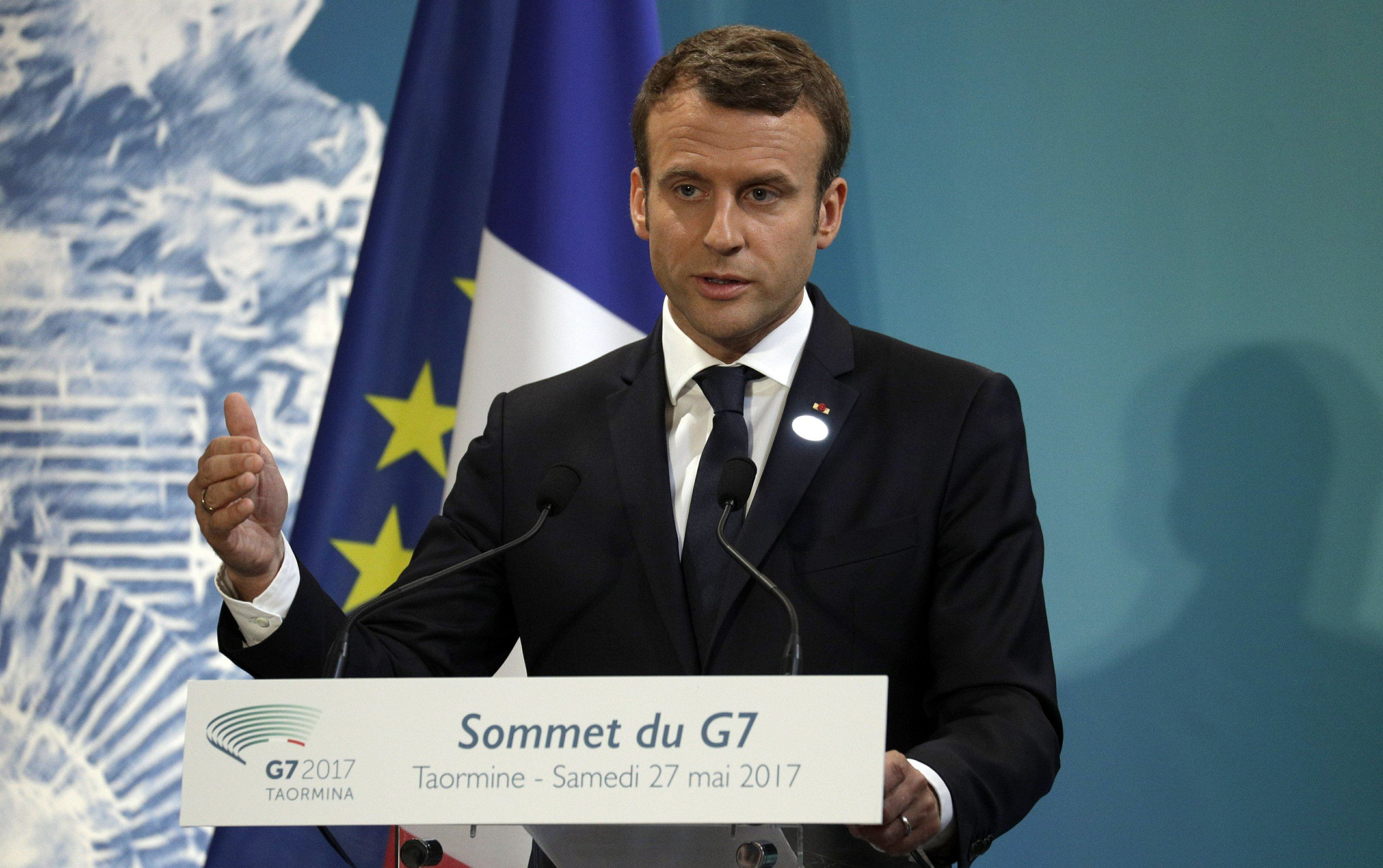 Newcomer Macron makes France's mark, with Trump and globally