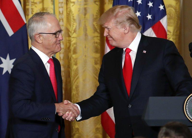 Donald Trump, Malcolm Turnbull,