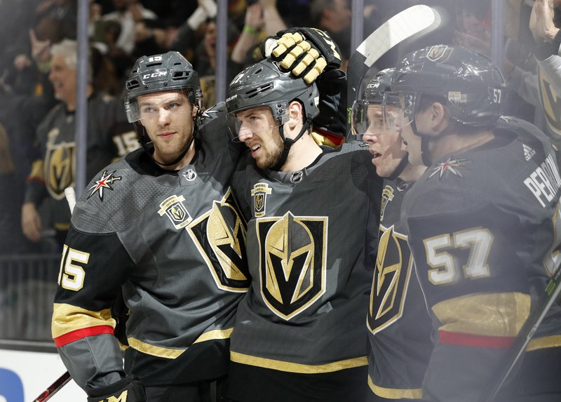 6651087f3 Vegas secures playoff spot with 4-1 win over Avalanche