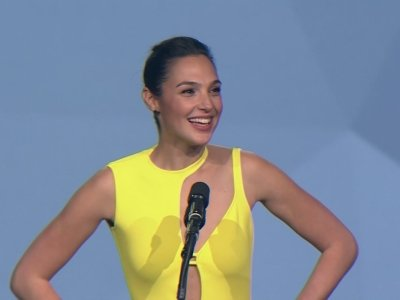 Gadot 'dancing from within' at awards