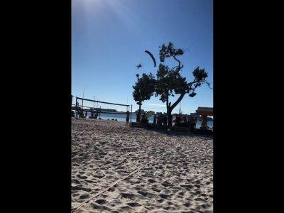 Skydiving Santa Crashes on Florida Beach