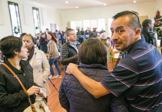 Immigration agents arrest man who left church after a year