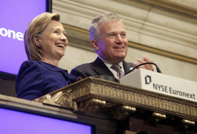 Duncan L. Niederauer, Hillary Rodham Clinton