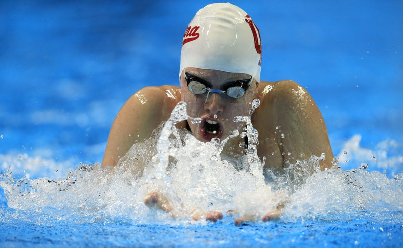 lilly king swims during a preliminary heat in the womens 100 meter breaststroke at the us olympic swimming trials in omaha neb monday june 27 2016
