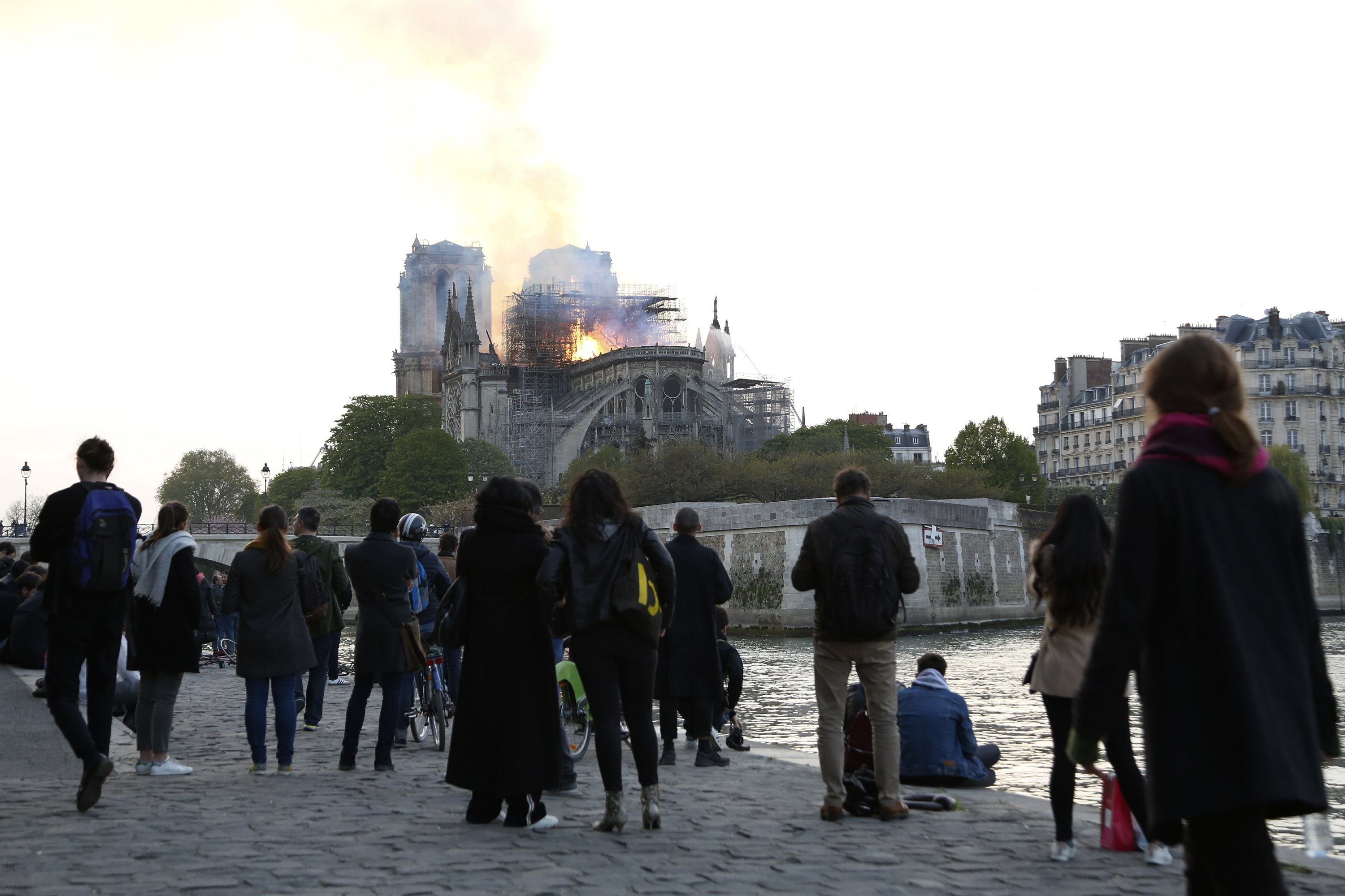 In the heart of Paris, watching a symbol of France burn