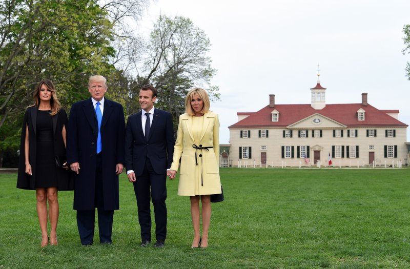 No Typical Double Date Trumps Macrons Dine At Mount Vernon