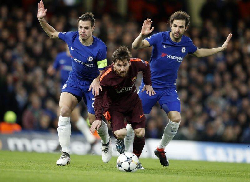 Lionel Messi, Cesar Azpilicueta, Cesc Fabregas