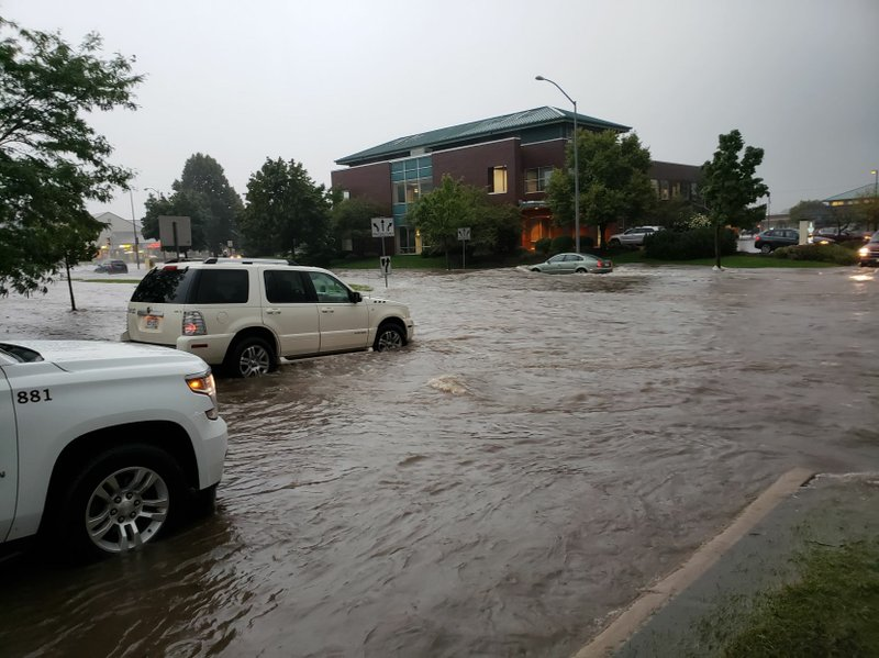 Flooded Madison intersection