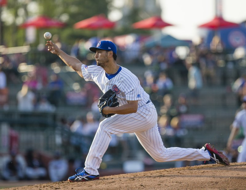 Cubs' Darvish takes step toward return with bullpen session