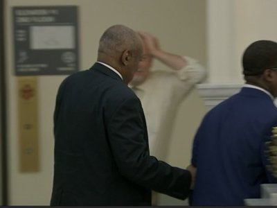 Cosby's Accuser, Wife Watch Defense's Argument
