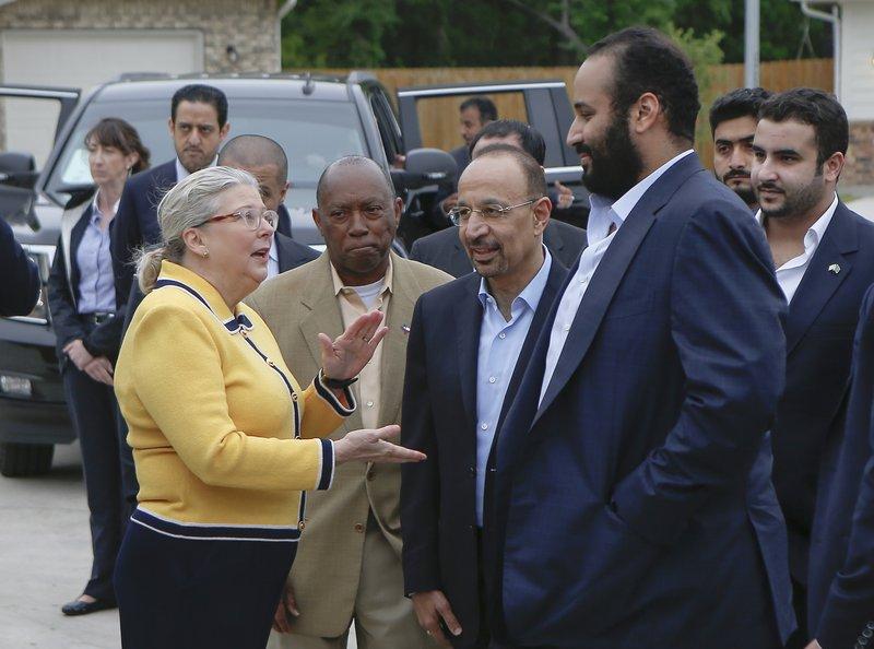 Mohammed bin Salman, Sylvester Turner, Khalid al-Falih