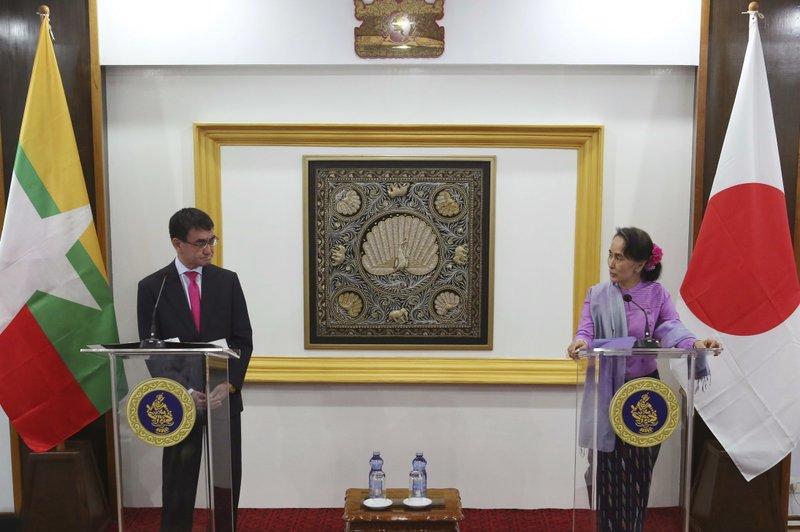 Aung San Suu Kyi, Taro Kono