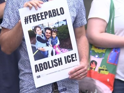 Rally To Support Detained Pizza-Worker Immigrant