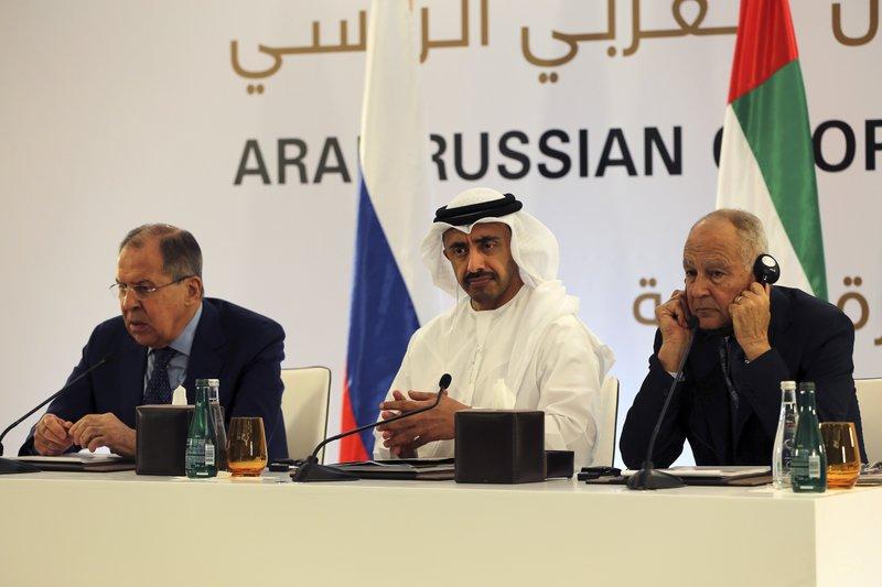 Sergey Lavrov, Sheikh Abdullah bin Zayed Al Nahyan, Ahmed Aboul-Gheit