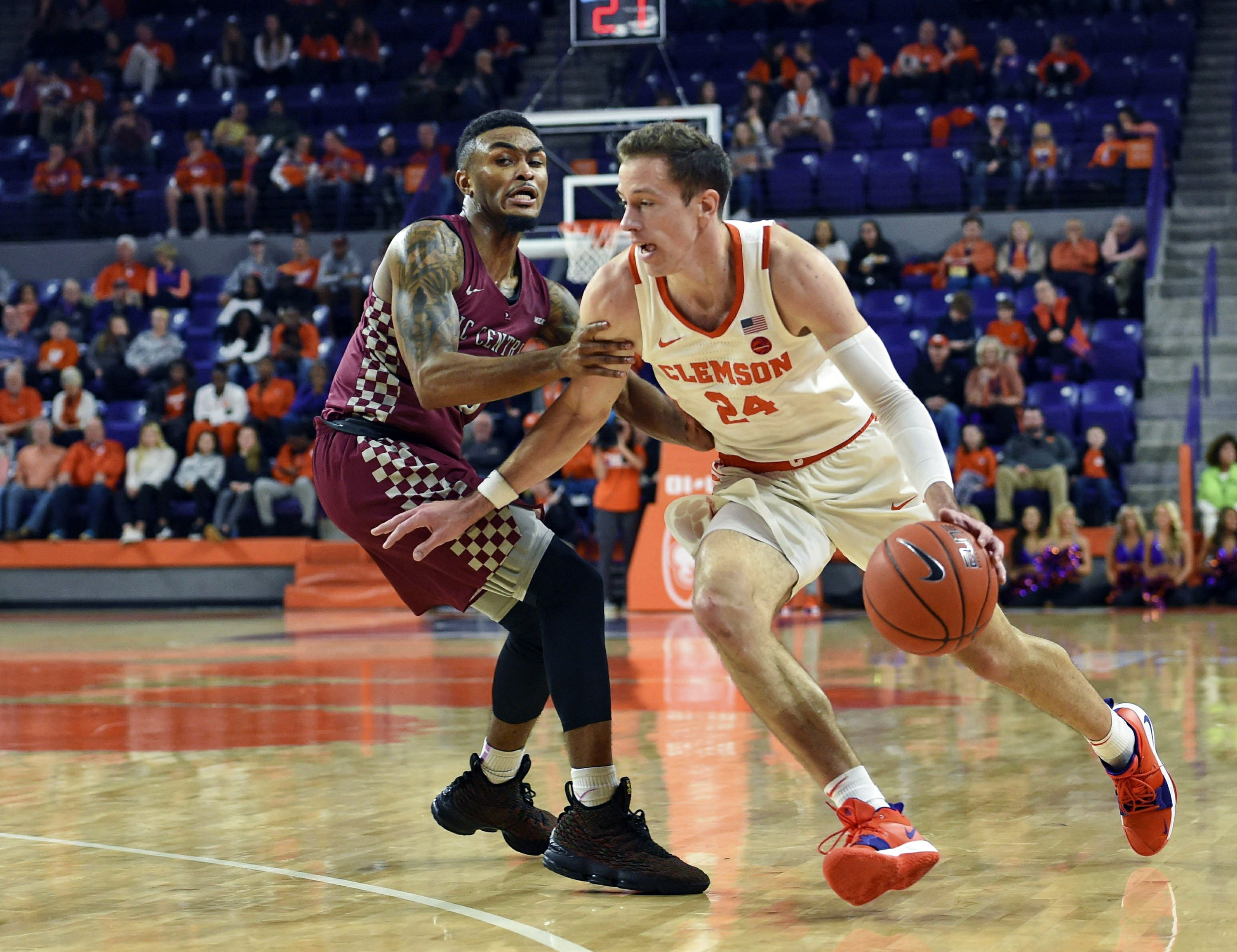 22 Clemson Uses Fast Start To Defeat NC Central 71 51