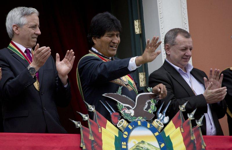 Evo Morales, Alvaro Garcia Linera, Jose Alberto Gonzales