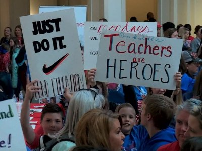 Oklahoma Teachers On Strike For Seventh Day