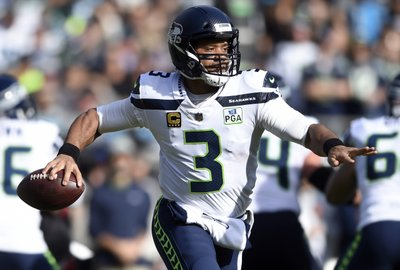 ab3d45bfd Russell Wilson jokes about shoe toss against 49ers