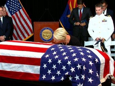 Senator McCain lies in state at Arizona Capitol