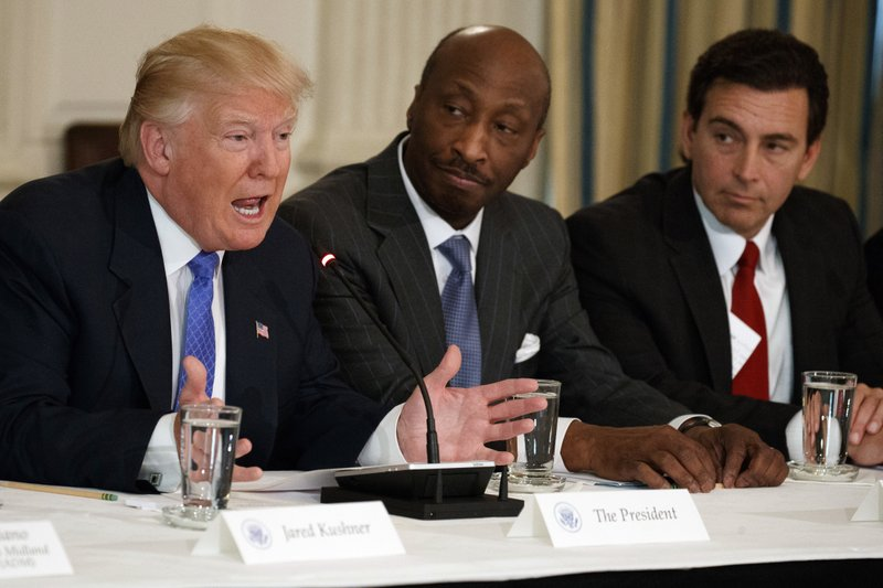 Donald Trump,Kenneth Frazier,Mark Fields