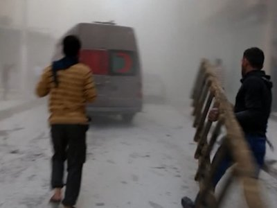 Raw: Rebel-Held Aleppo Hit with More Airstrikes