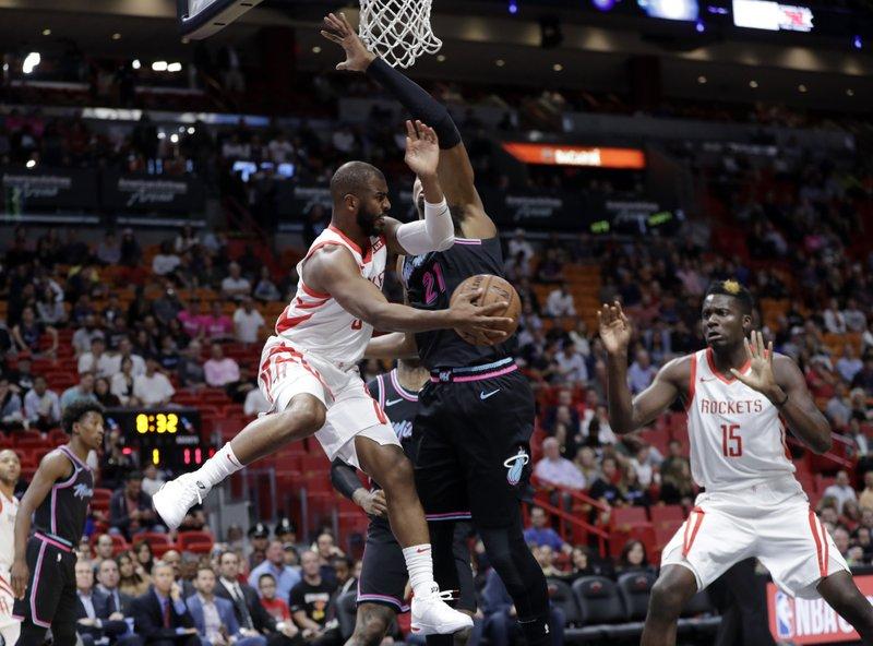 3cd7d08be7ee Rockets  Chris Paul strains hamstring
