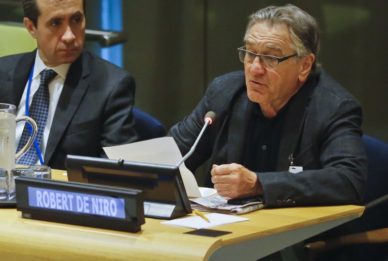 United Nations General Assembly, De Niro