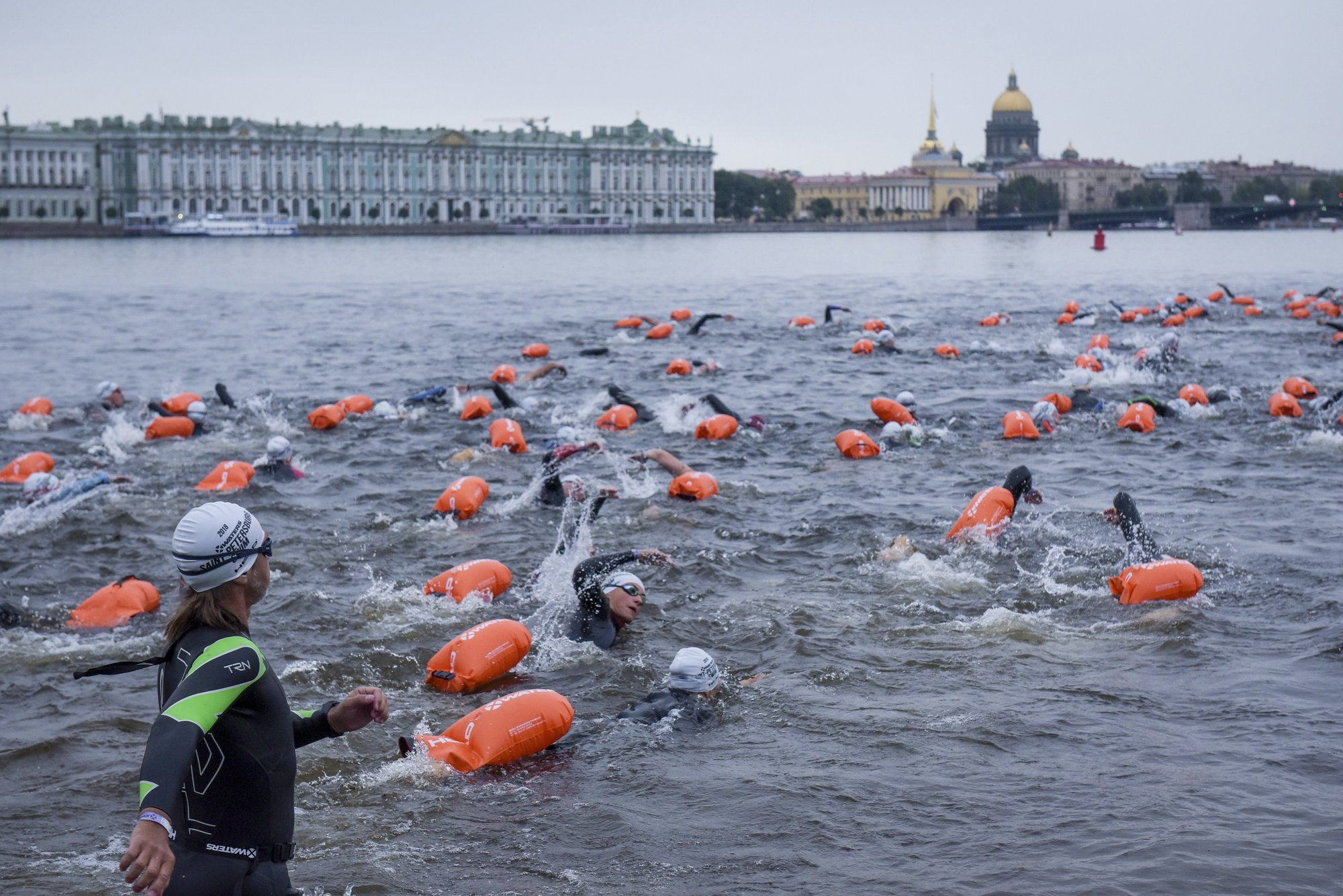 600 take the plunge in unusual St. Petersburg swim