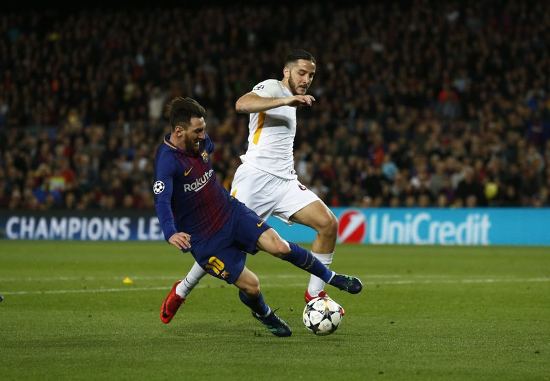 Lionel Messi,Kostas Manolas