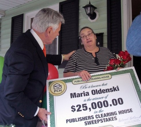 W-B Woman Wins Publishers Clearing House Prize