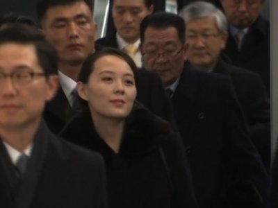 Raw: Kim Jong Un's Sister in South Korea