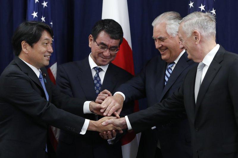 Rex Tillerson, James Mattis, Taro Kono, Itsunori Onodera