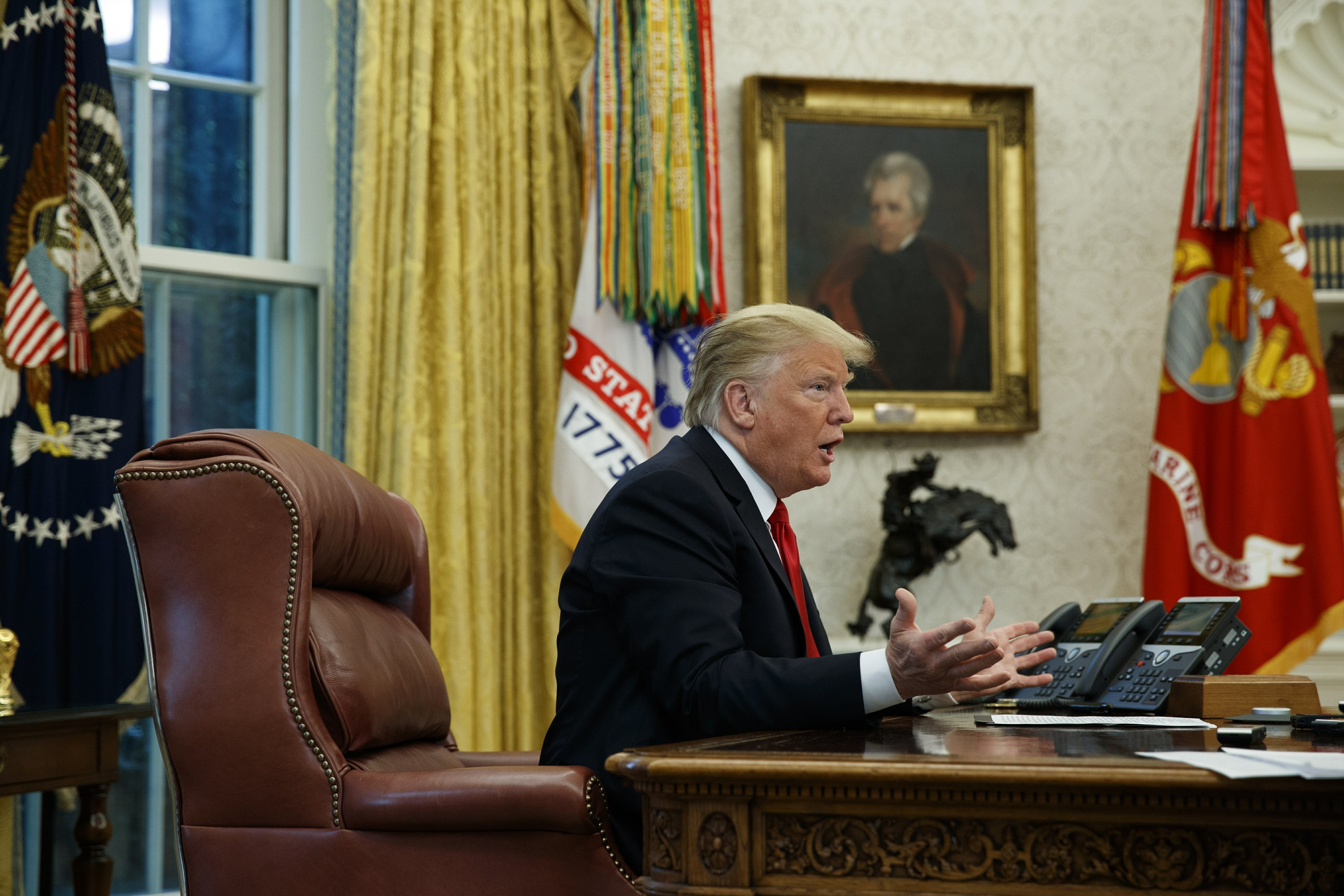 Read the transcript of AP's interview with President Trump