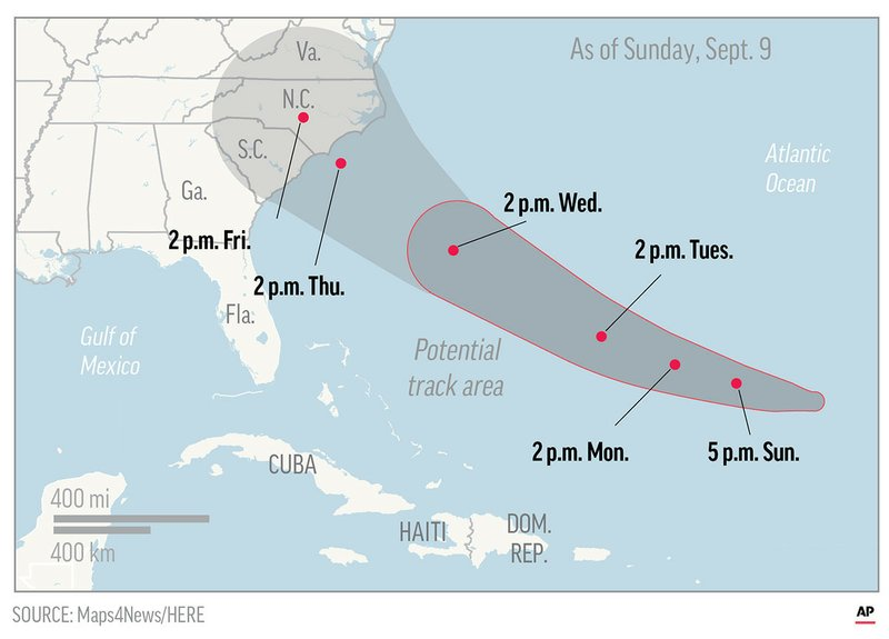 Strengthening Hurricane Florence takes aim at US Southeast