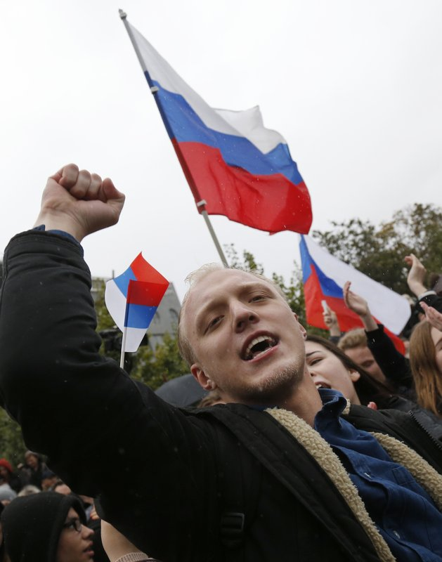 Supporters of opposition leader Navalny rally across Russia