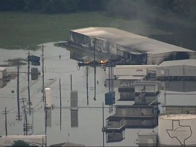 Fire Burns at Houston Area Chemical Plant