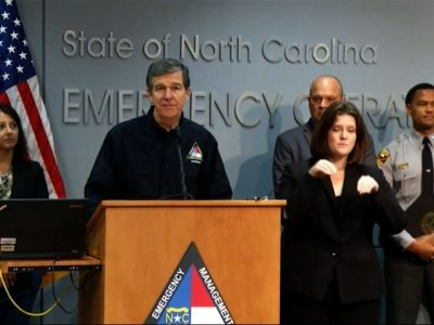 NC governor says Florence 'wreaking havoc'