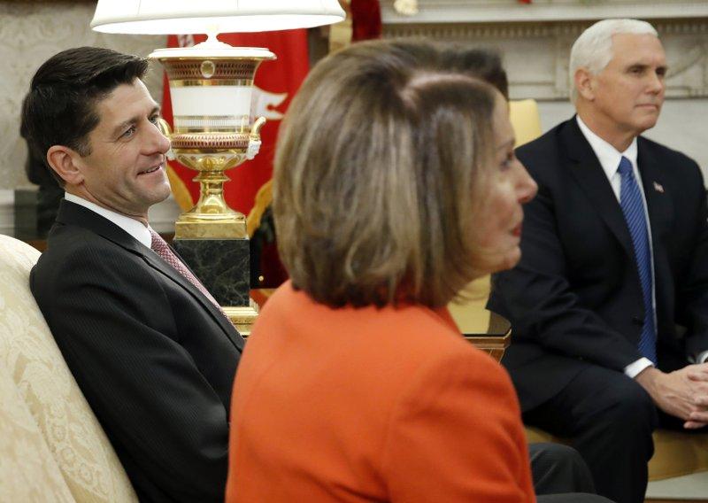 Paul Ryan, Nancy Pelosi, Mike Pence