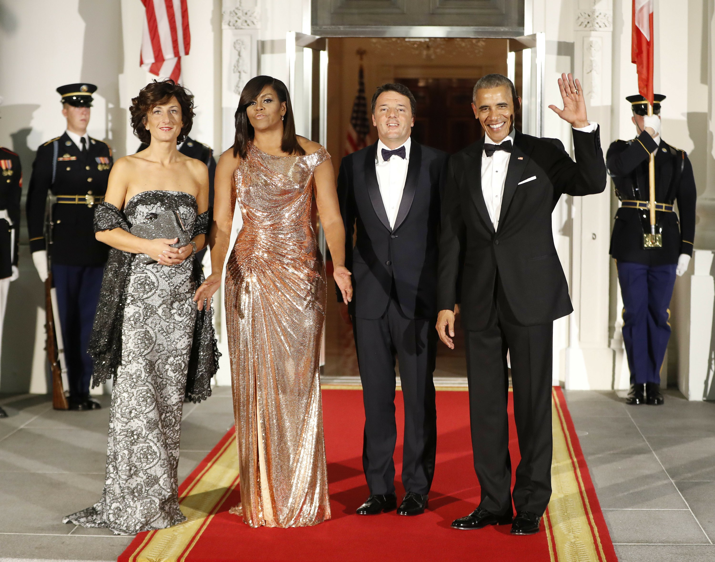 Obama Honors Italy S Leader At Bittersweet State Dinner