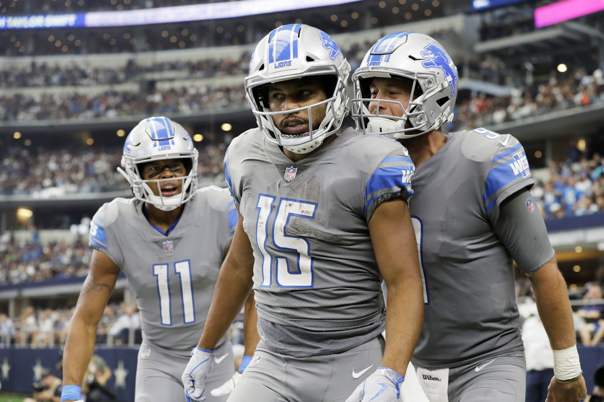 Golden Tate Matthew Stafford Marvin Jones