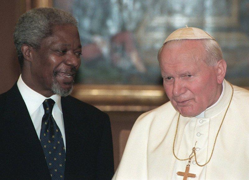 KOFI ANNAN POPE JOHN PAUL II