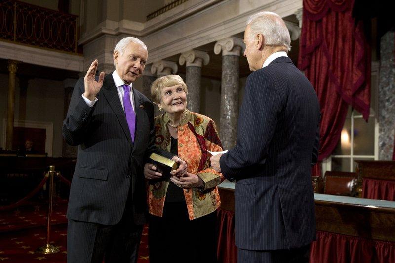 Orrin Hatch, Elaine Hatch, Joe Biden