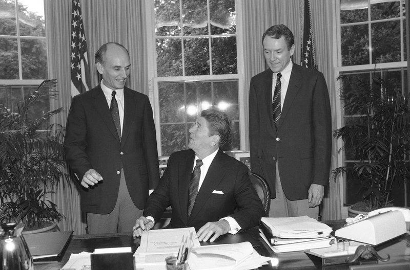 Ronald Reagan, Jake Garn, Orrin Hatch